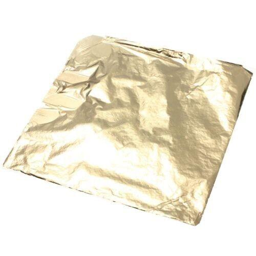 100 Feuille d'imitation Feuille de cuivre or 14 x 14 cm Craft pour Dorure Oeuvr