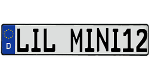 audi bmw mini cooper genuine German license plate YouR TEXT custom vw