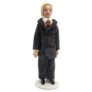 1-12-Persone-Porcellana-Uomo-Con-Vestito-Per-Casa-Delle-Bambole-In-Miniatura