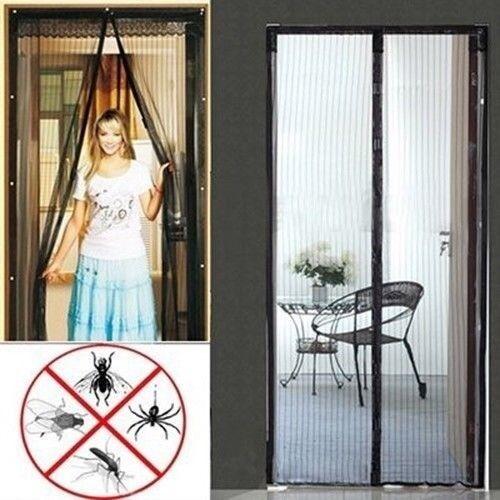 Easy Mesh Magnetic Magnet Holding Closing Bug Screen for House Door Doorway
