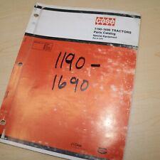 Case 1190 1690 Tractor Spare Parts Manual Book Catalog List Farm Wheel Factory