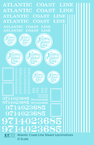 K4-O-Decals-Atlantic-Coast-Line-ACL-Steam-Locomotive-White-ACL