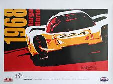 Porsche 907 Targa Florio 1968 Victory Vic Elford Hand Signed Porsche Art Poster