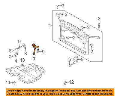 MAZDA OEM 14-15 3 Radiator Core Support-Center Hood Lock Latch Support B45A5215Y
