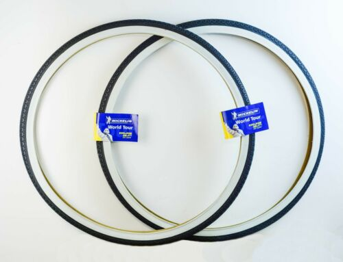 2 Pneus vélo Michelin World Tour Noir//Blanc 650B 26*1 1//2 35-584 bicycle tyres