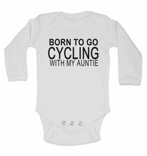 Né à faire du vélo avec mon Tantine pour bébé en coton à manches longues vestes pour garçons filles