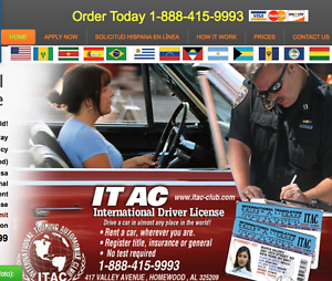 Details about ITAC International Drivers License 2yrs (NEW)