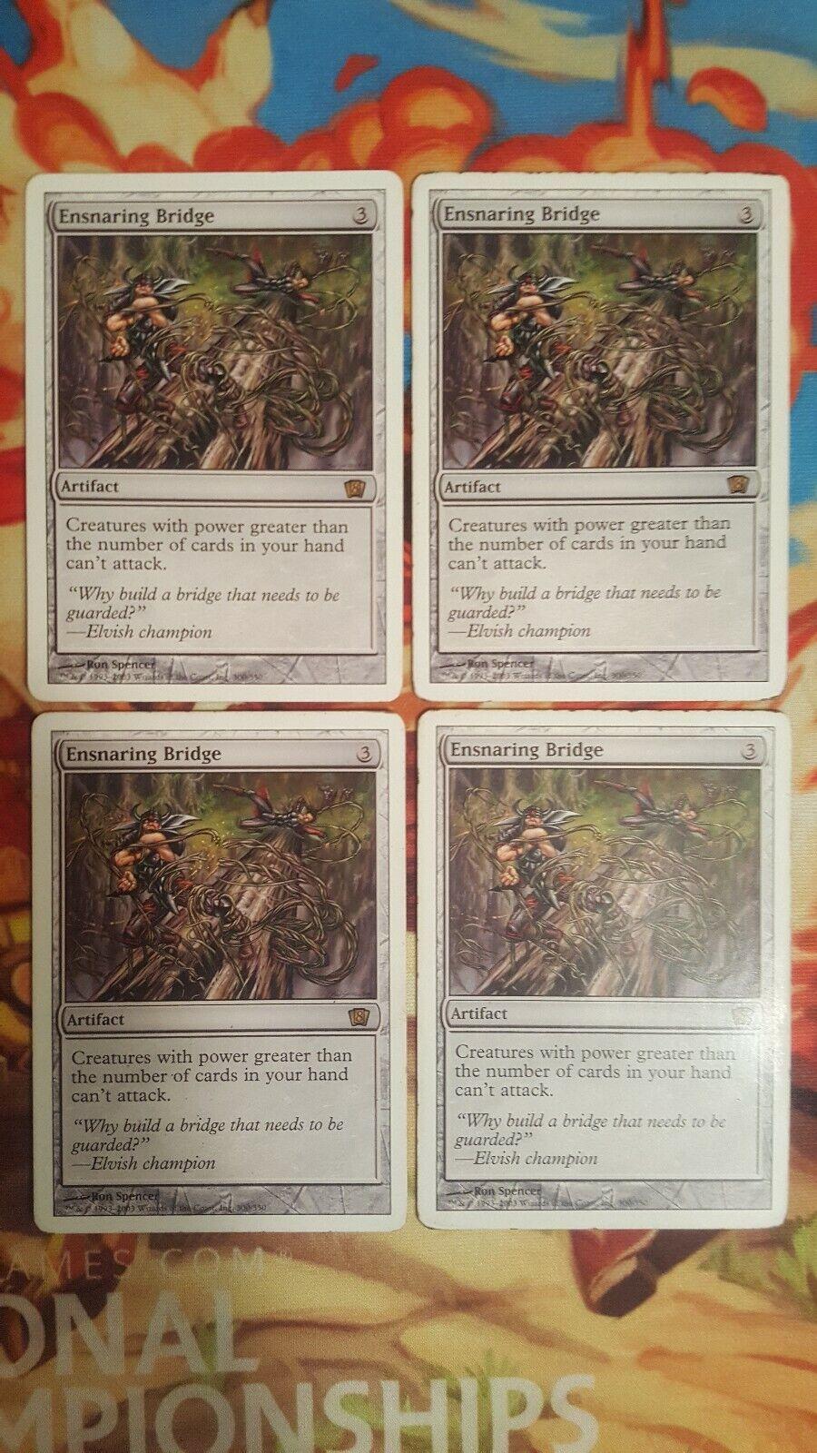 El puente 4 x magia colecciona la tarjeta mtg.