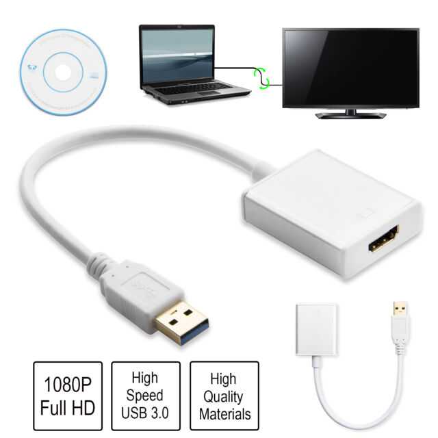 USB 3.0 to HDMI HD 1080P Video Cable Adapter Converter for PC Laptop HDTV AC325