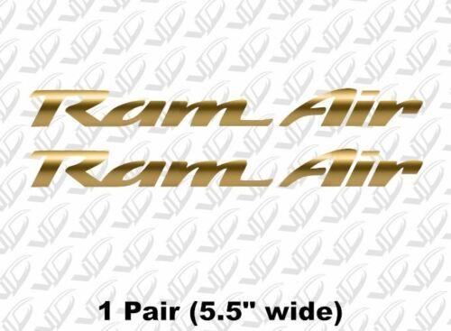 Trans Am Firebird WS6 Pontiac Formula hood RAM AIR Gold vinyl decal sticker
