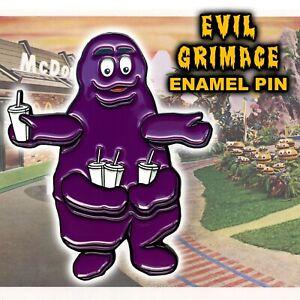 Evil Grimace Enamel Pin McDonalds Shake McDonaldland Four Arms 70's 4 Armed