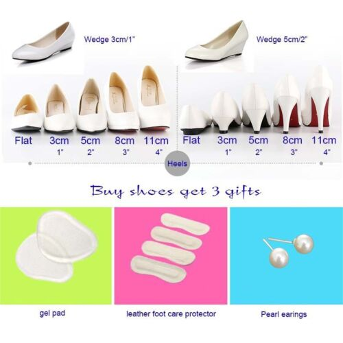 Bling Crystal Wedding shoes Bridal bridesmaids high heel pump wedge platform