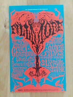 by Lee Conklin BG126 Albert King Canned Heat Ten Years After Fillmore 1968 Original Concert Postcard