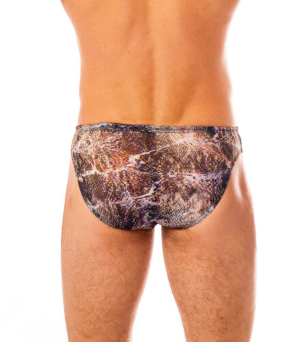 Kiniki BALI tan through Swim Brief ad asciugatura rapida materiale Made in England