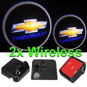 2-x-LED-Logo-Light-Ghost-Shadow-Projector-Car-Door-Courtesy-Laser-CHEVROLET