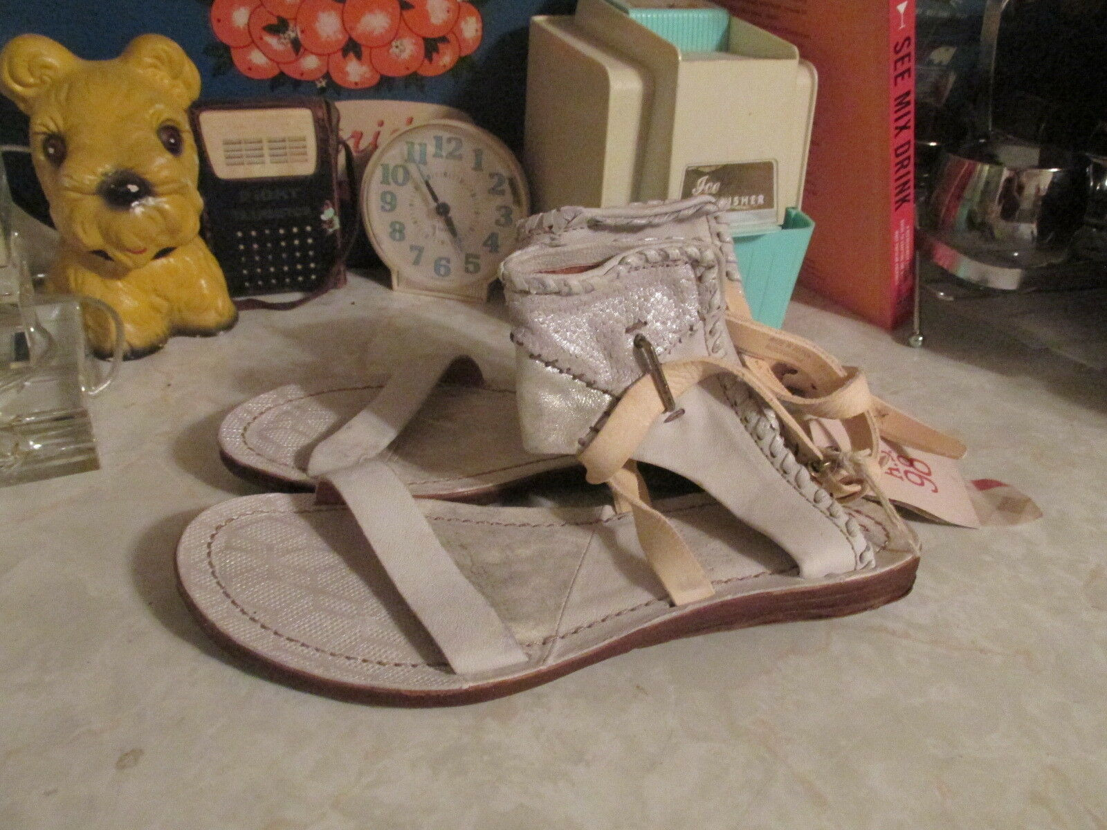 AS 98 Free Free Free People  Stateside  Patchwork Leather Sandals Sz EU 40 NWOB 2a4ddd