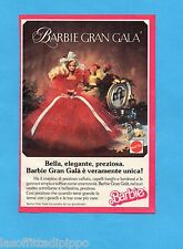 TOP989-PUBBLICITA'/ADVERTISING-1989- MATTEL- BARBIE GRAN GALA'