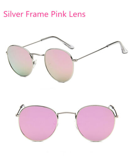 Round Vintage Retro Hippy Cyber Goggles Steampunk Mens Womens Sunglasses Mirror