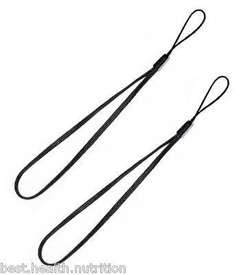 2x Black Wrist Strap Lanyard for Camera Cell Phone iPod USB mp3 mp4 - USA SELLER