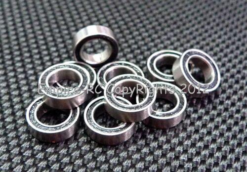 BLACK 6x17x6 mm Rubber Sealed Ball Bearing Bearings 606RS 606-2RS 10 PCS