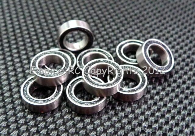 [5 PCS] 607-2RS (7x19x6 mm) Rubber Sealed Ball Bearing Bearings 607RS (BLACK)