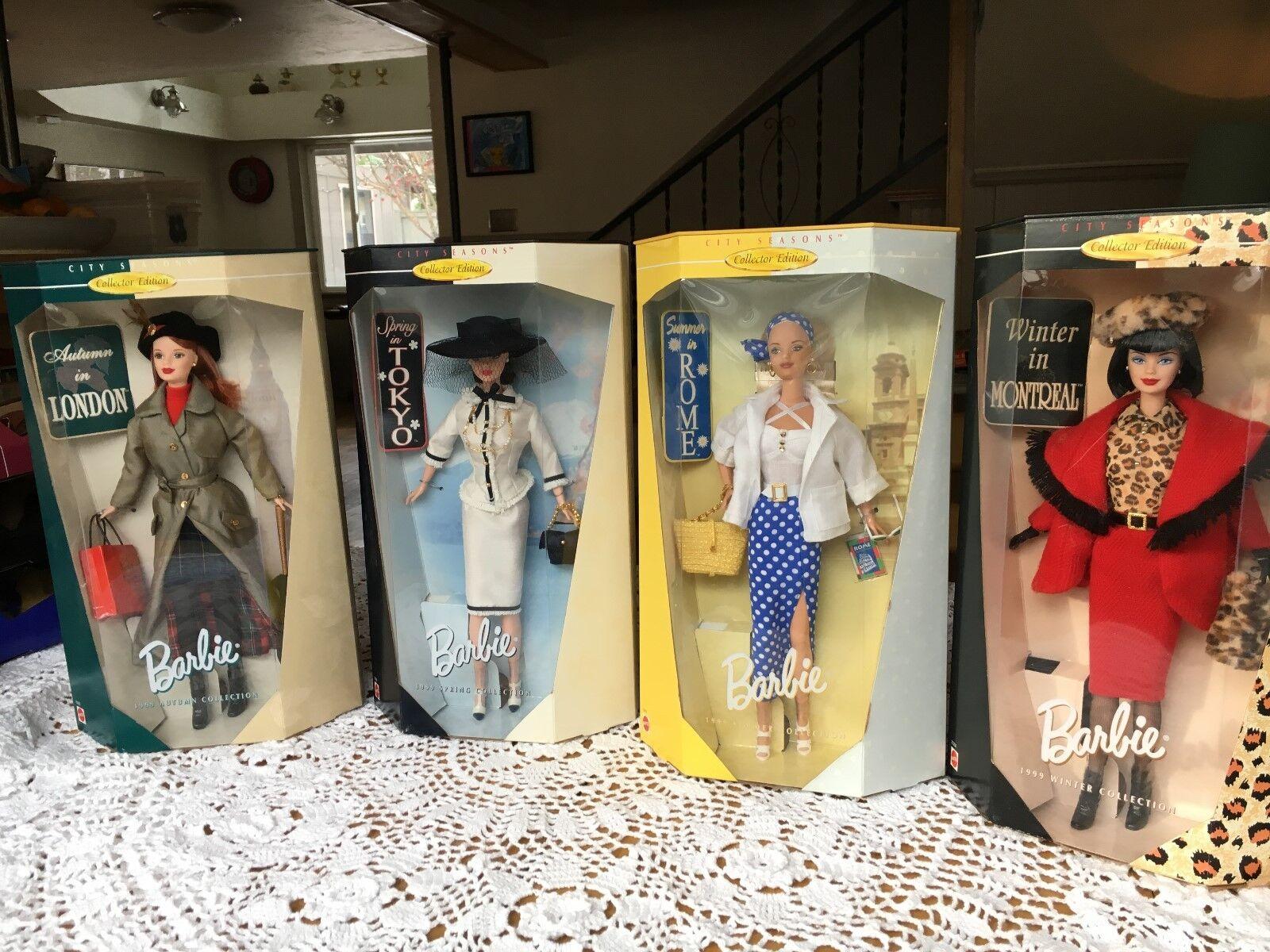Barbie 1999 Ciudad Temporadas Completa Edición de Coleccionista-por F.a.o. Schwartz-sin Usar En Caja -