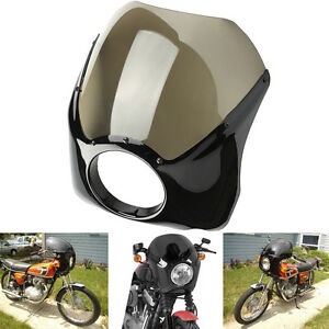 Image Is Loading FIT 7 034 HEADLIGHT RETRO CAFE RACER STYLE