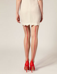 Seam-Tights-Natural-Tan-Pantyhose-with-Contrast-Red-Seam-Toe-and-Point-Heel