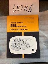 John Deere 850 Fork Lift Log Loader Operators Manual Nos