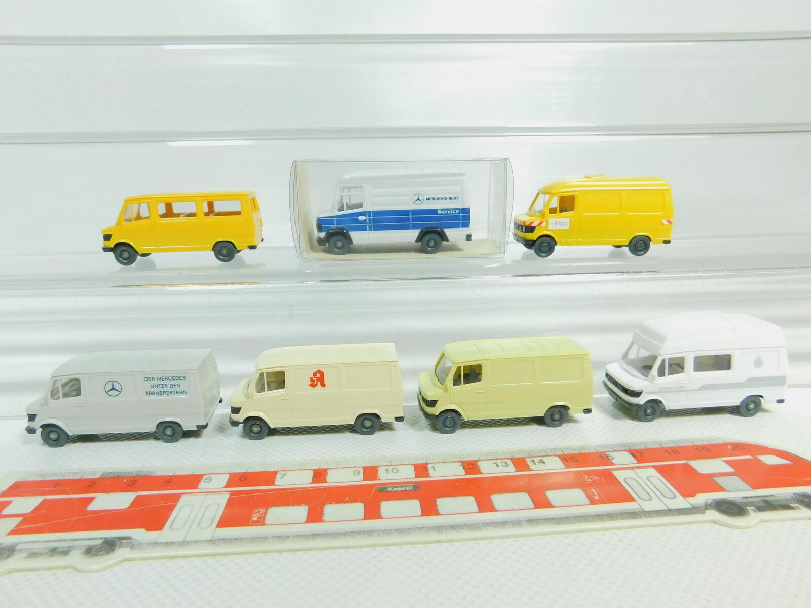 Bo596-0, 5 x Wiking H0   1 87 Transporter MB  272+ Pharmacy etc. , Mint