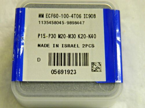 2 #5691923 Iscar Carbide Milling Tip Inserts MM-ECFT06 Grade IC908 Qty