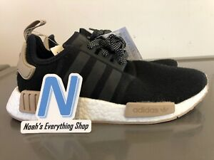 Adidas-NMD-R1-Champs-Sports-Black-Wool-Running-Shoes-CA0760-Brand-New-Size-6