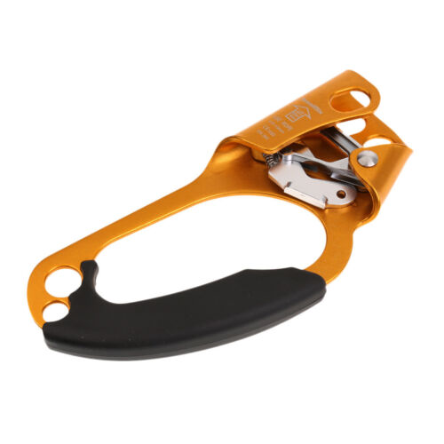 20x9cm 4KN Rescue Outdoor Climbing Gold Right Hand Ascender for 8-13mm Rope