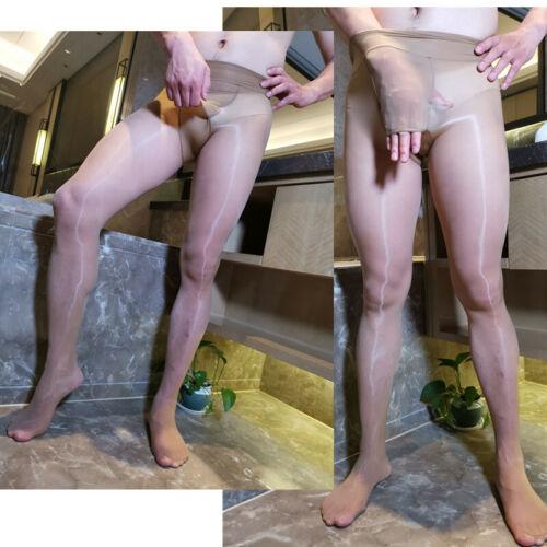 8D Plus Size Men Shaping Socks Oily Socks Shiny Silky Stockings Pantyhose Tights