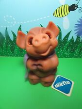 """1988 DAM THINGS EURO PIG BANK WITH NORFIN HANG TAG  - 6"""" Dam NorfinTroll Doll"""