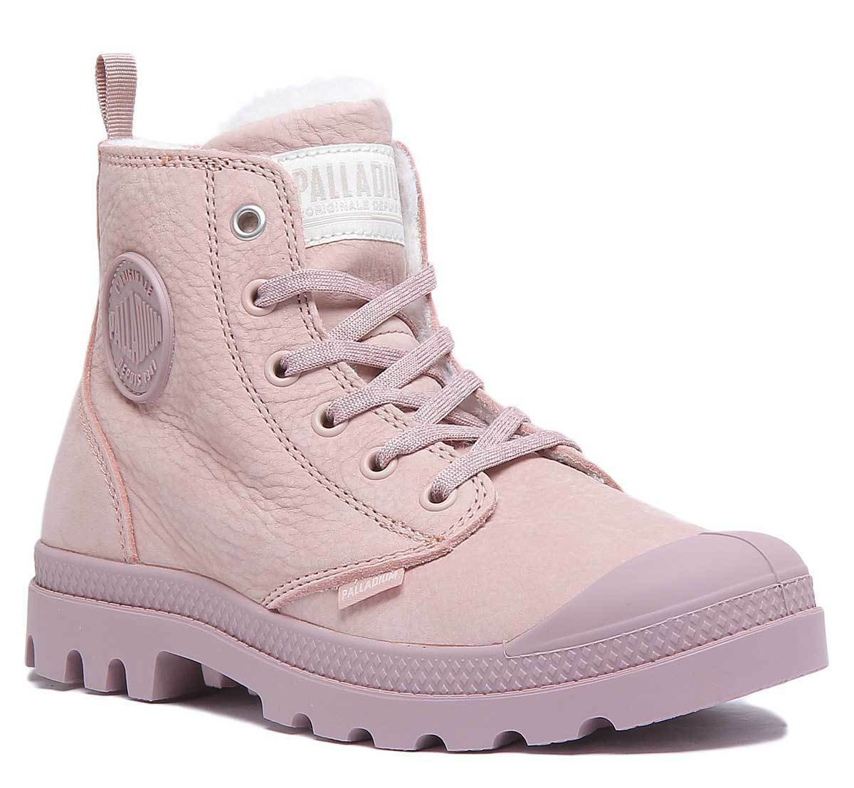 Palladium Pampa Hi Zip WL Women Nubuck Leather Rose Boots