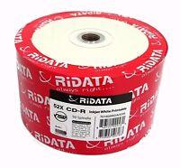 100 Ridata Blank Cd-r Cdr White Inkjet Hub Printable 52x 700mb Media Disc-taiwan