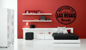 Wall Vinyl Sticker Decal Mural Design Las Vegas City View Skyline Nevada bo2074 Wall Decals & Stickers
