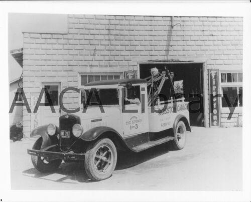 Ref. #48202 1932 International Harvester C3 Wrecker Truck Factory Photo