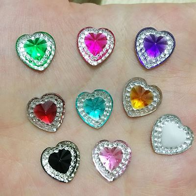 DIY 30pcs Heart Resin flatback Scrapbooking for phone/Wedding DIY  craft buttons