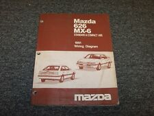 1991 Mazda 626 Sedan & MX6 Coupe Electrical Wiring Diagram Manual DX LX LE 2.2L
