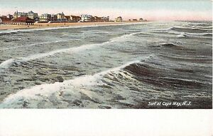 Cape May Hotels >> Details About C 1905 Hotels Beach Cape May Nj Post Card