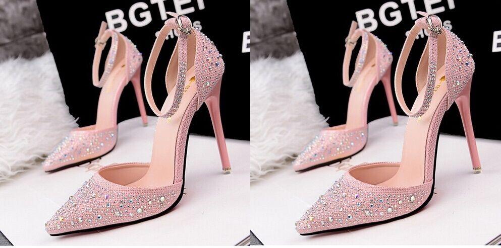 Décollte   decolte sandali donna tacco 10.5 8654 cm spillo stiletto rosa 8654 10.5 8c807d
