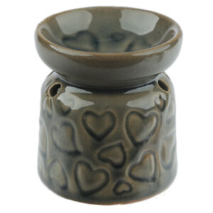 Small-Brown-Hearts-Wax-Warmer-Burner-amp-pack-of-10-Handpoured-Scented-Melts