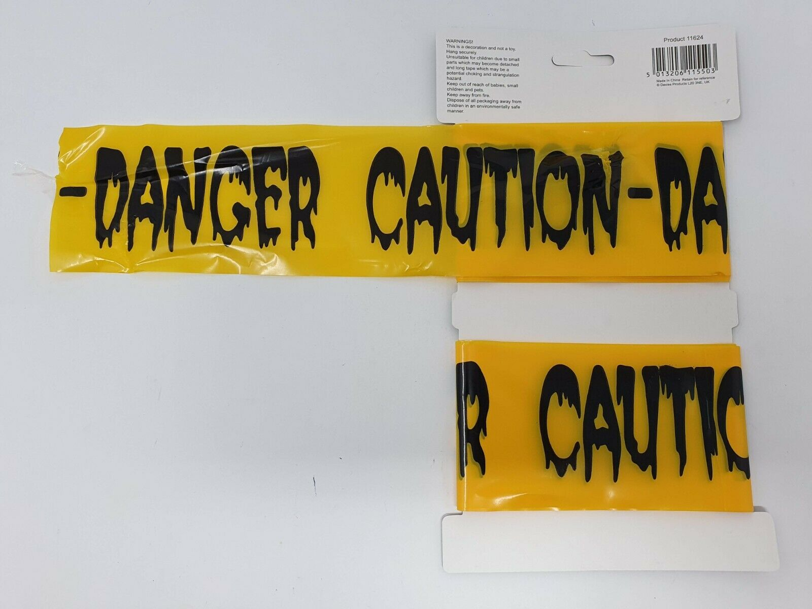 Caution Tape Black /& Yellow 6m Prop Decoration Halloween House Party Accessory