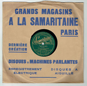 78T-25cm-CARRARA-amp-GRAMEN-Accordeon-Disque-NUIT-MONTE-CARLO-SAMARITAINE-133