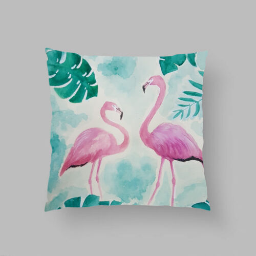 Summer Flamingo jeter les taies d/'oreiller canapé lit Home Decor Cushion cover case 45X45
