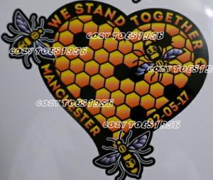 Manchester Abeille Coeur en nid d/'abeille Autocollant Voiture Van Fenêtre Autocollant