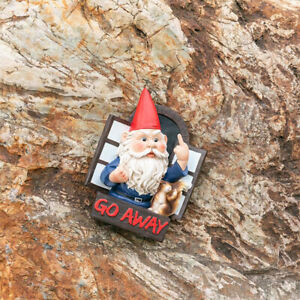 Elf Out The Window Tree Hugger Funny Lawn Gnome Tree Decor Outdoor Garden