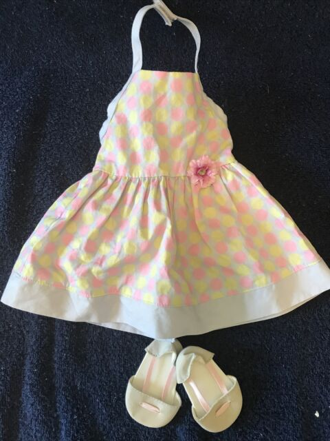American Girl Doll Of The Year Chrissa Polkadot Sundress and Sandals Retired
